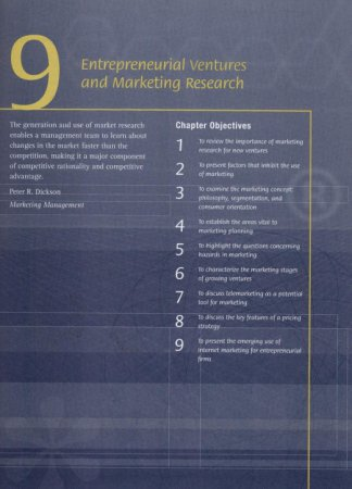 Entrepreneurial Ventures and Marketing Research